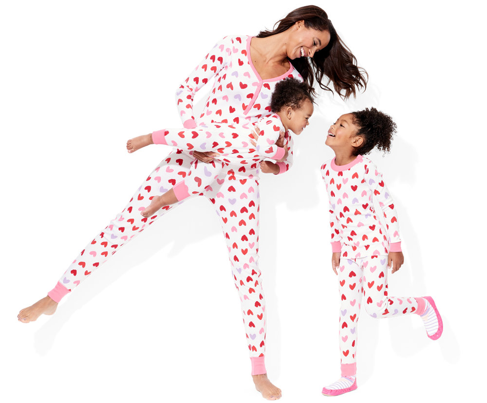 Hanna Valentines Pajamas for Family