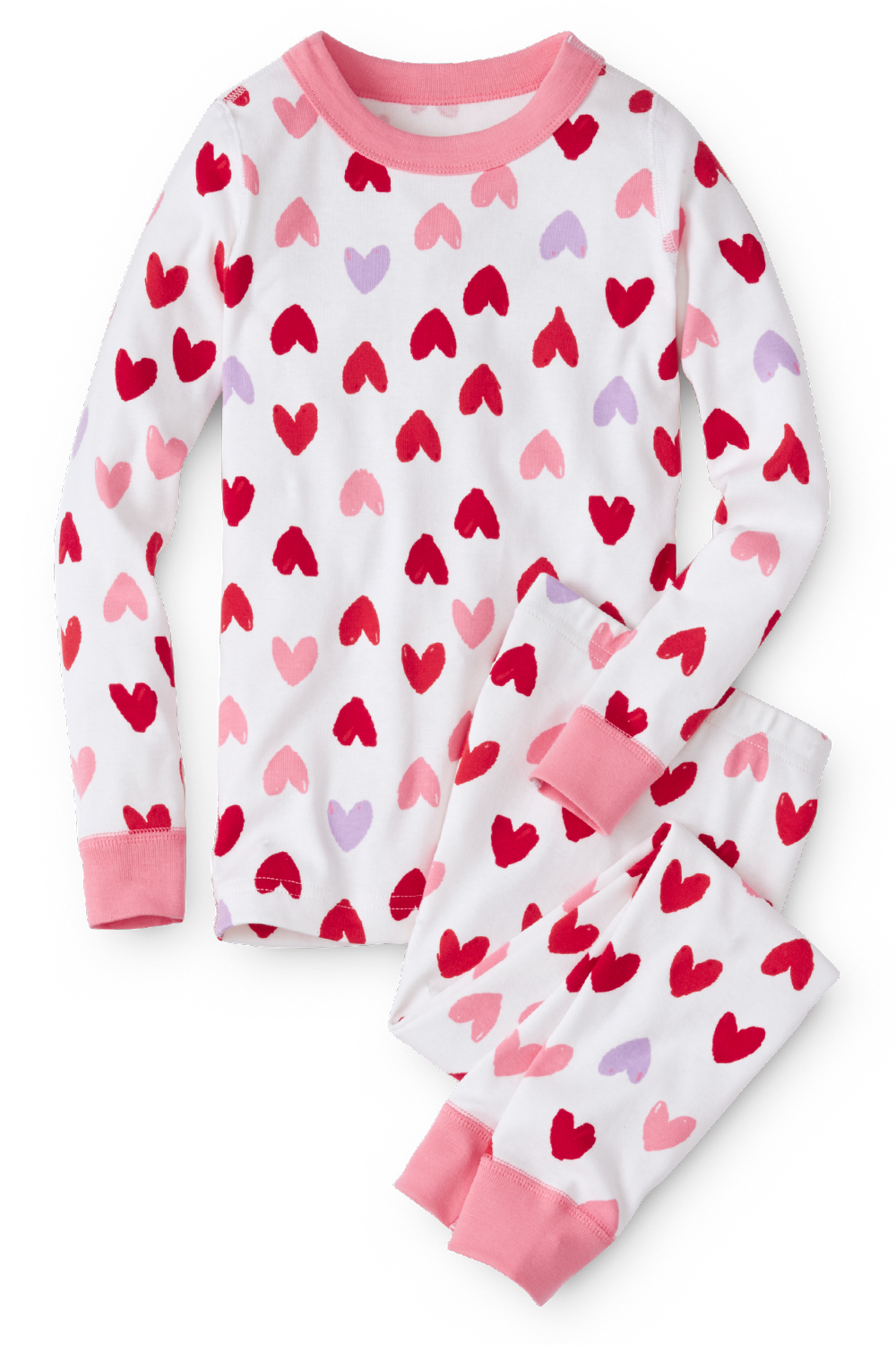 Valentine Pajamas for kids in Organic Cotton