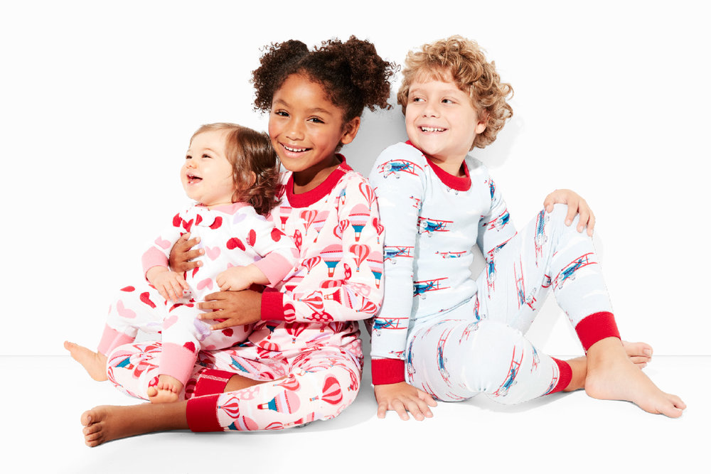 Valentine Kids Organic Cotton Long Johns