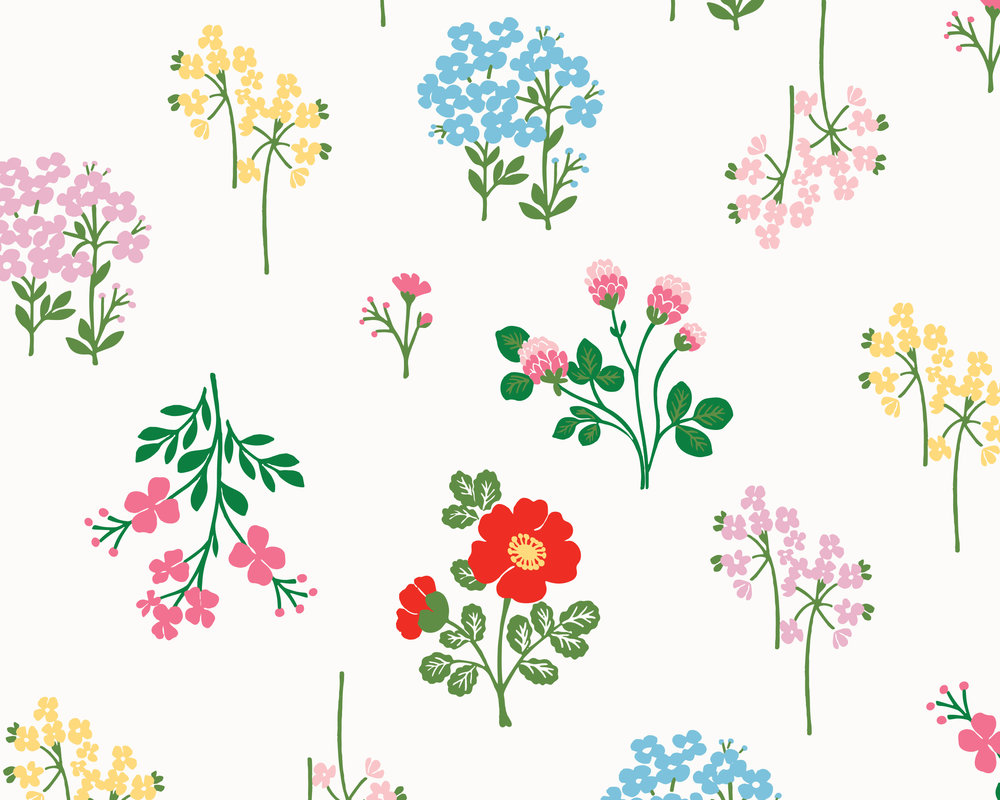 Floral Desktop Background - Hanna Andersson