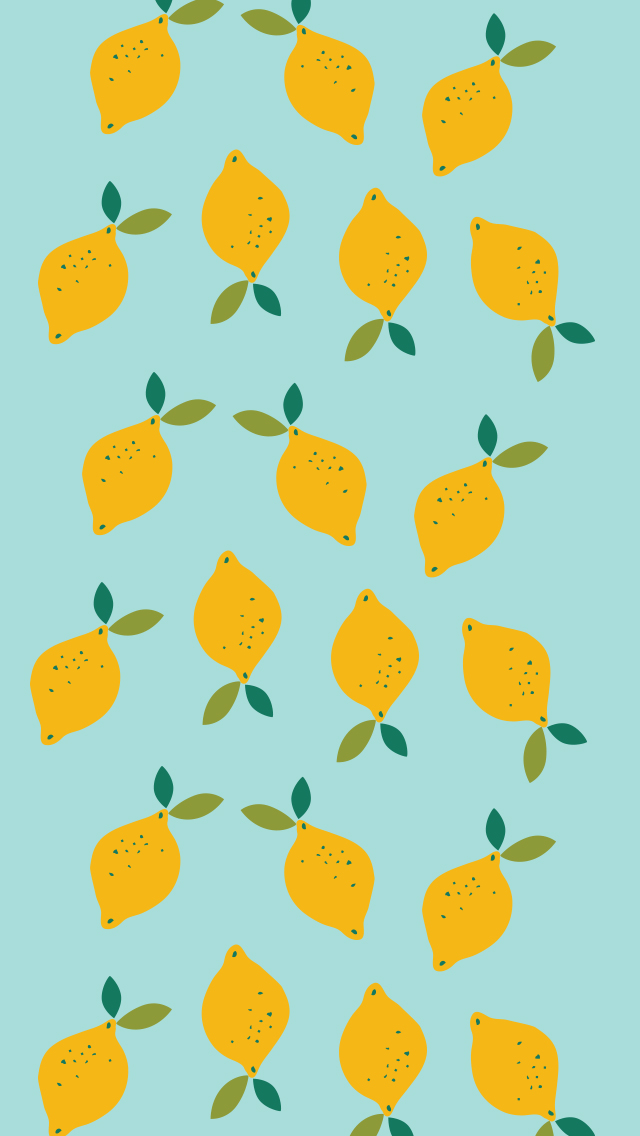 Lemon Print Phone Background
