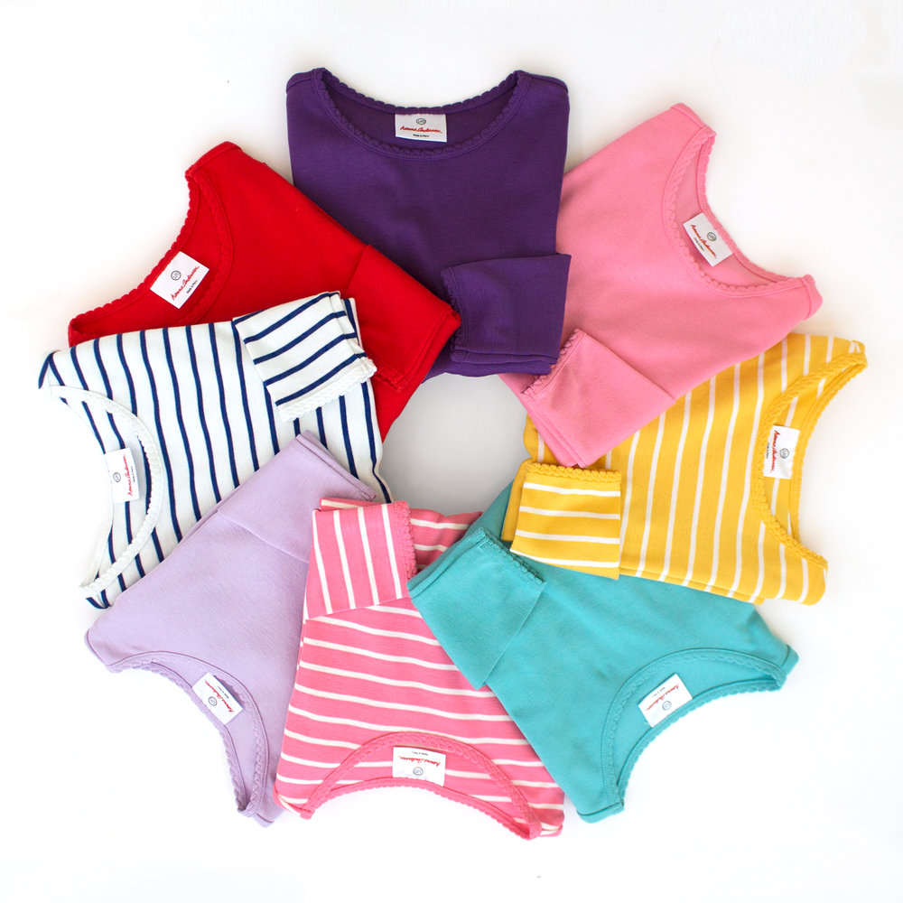 Hanna Andersson Bright Long Sleeve Kids Tees