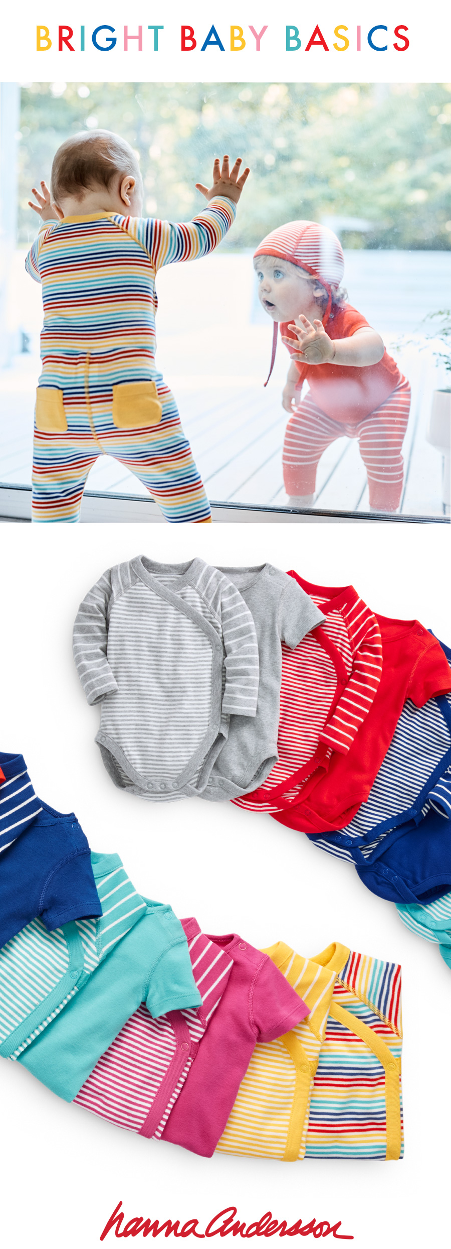Organic Cotton New Baby Clothes - Bright Baby Basics - Hanna Andersson