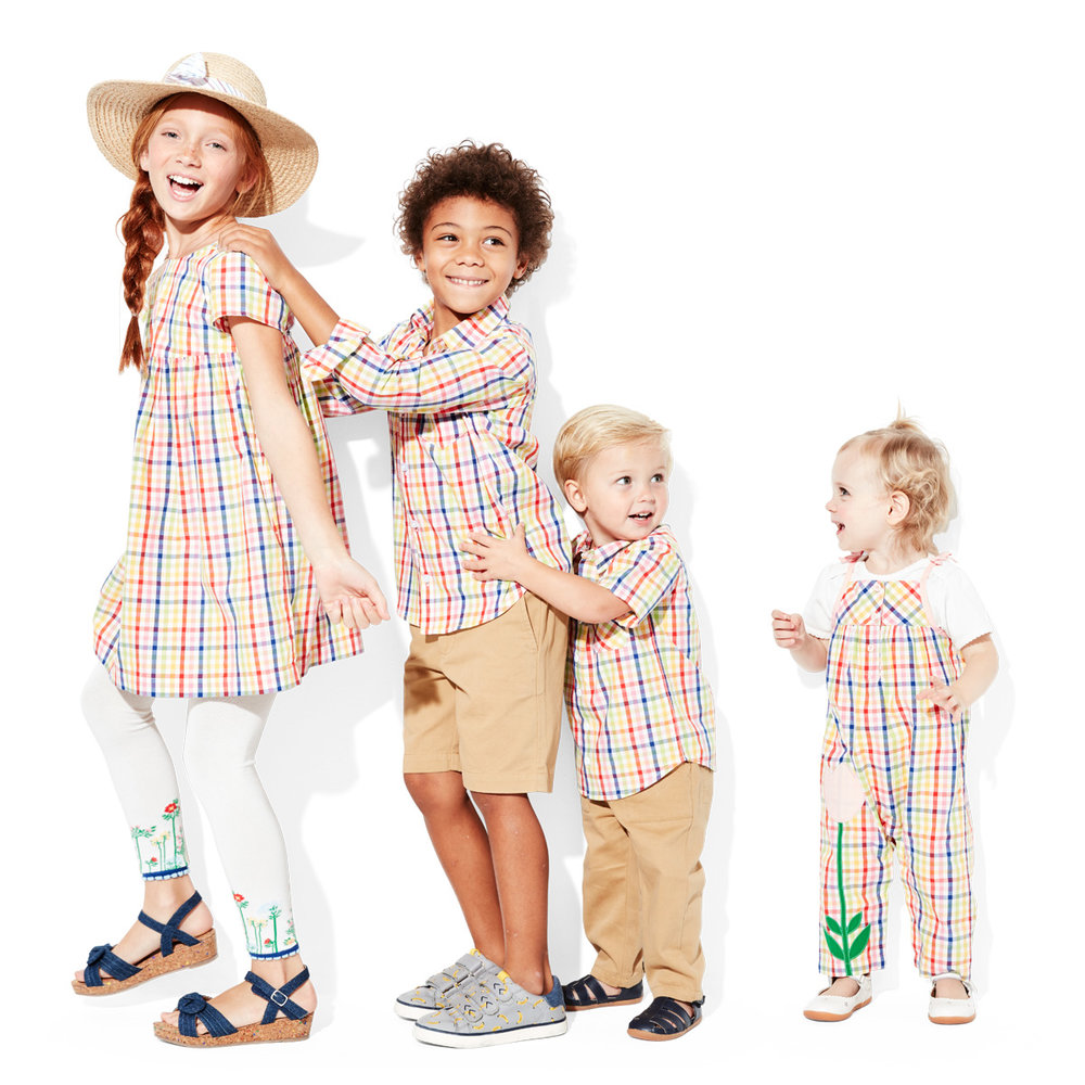 Kids Plaid Matching Outfits
