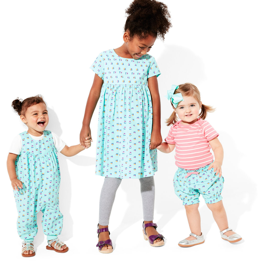Mini Floral Kids Matching Outfits for Spring