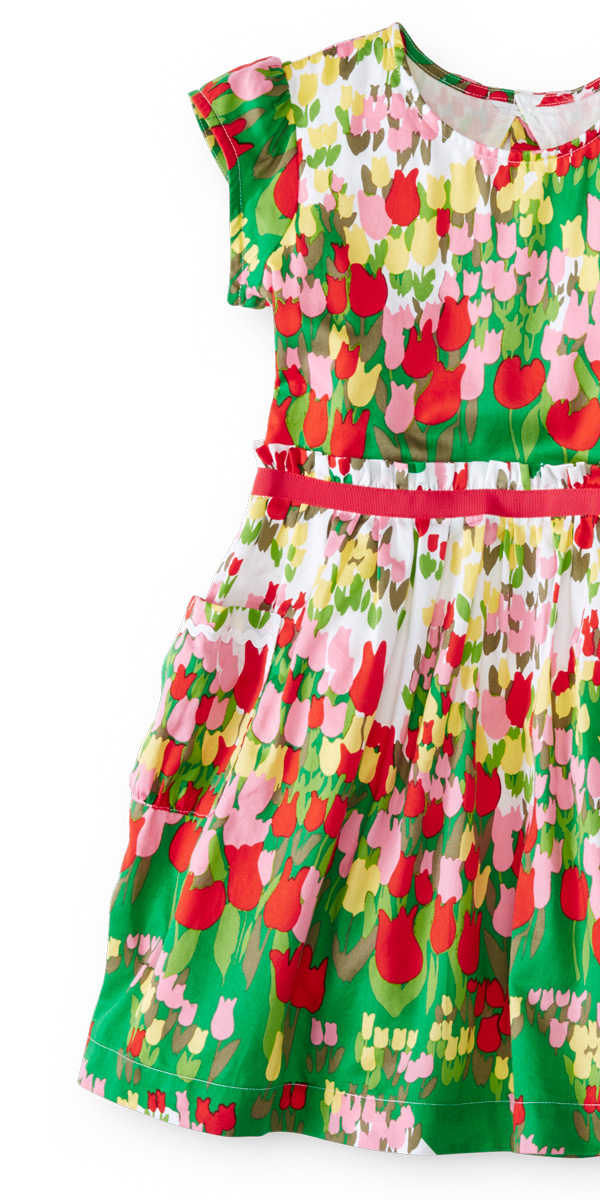 Spring Tulip Dress for Girls - Hanna Andersson
