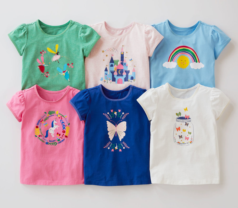 Girls T-Shirts - Imagination Collection - Hanna Andersson