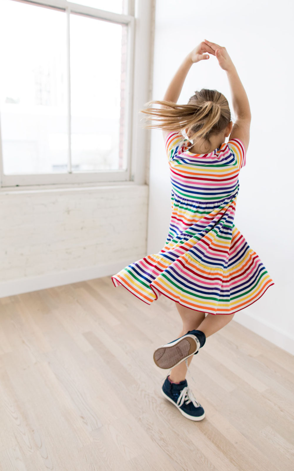 easy summer play look - girls twirly dress - hanna andersson