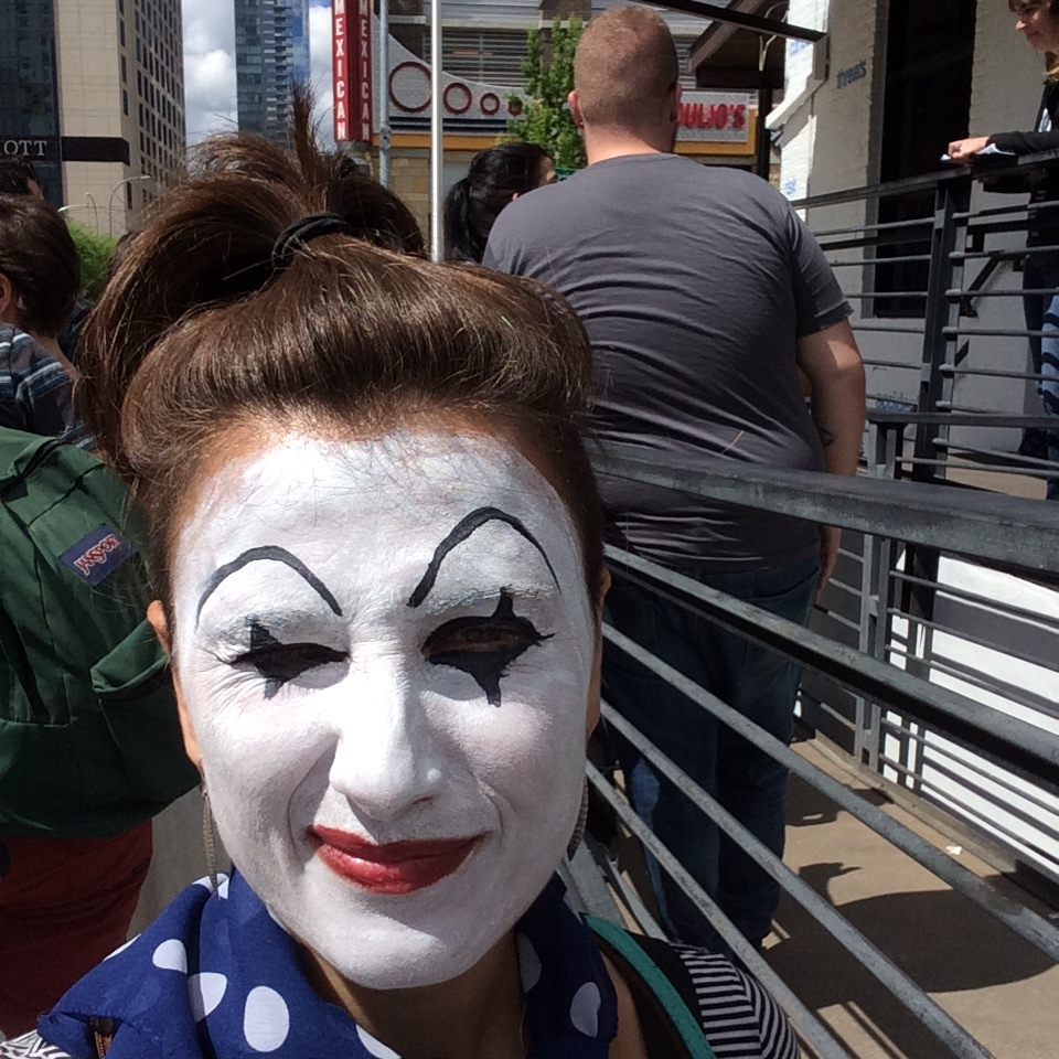 Bright sun not good for mime makeup