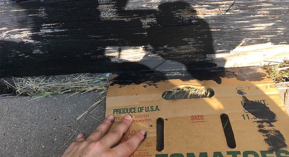 Cardboard: keeping lines straight and curbs unpainted since 1890.