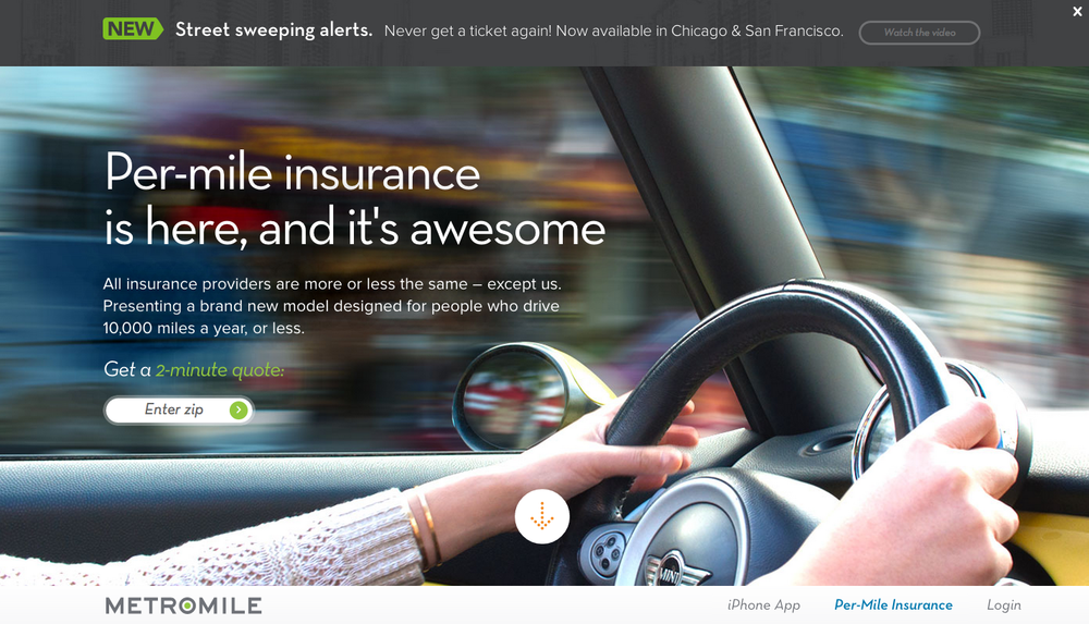 MetroMile Insurance Page