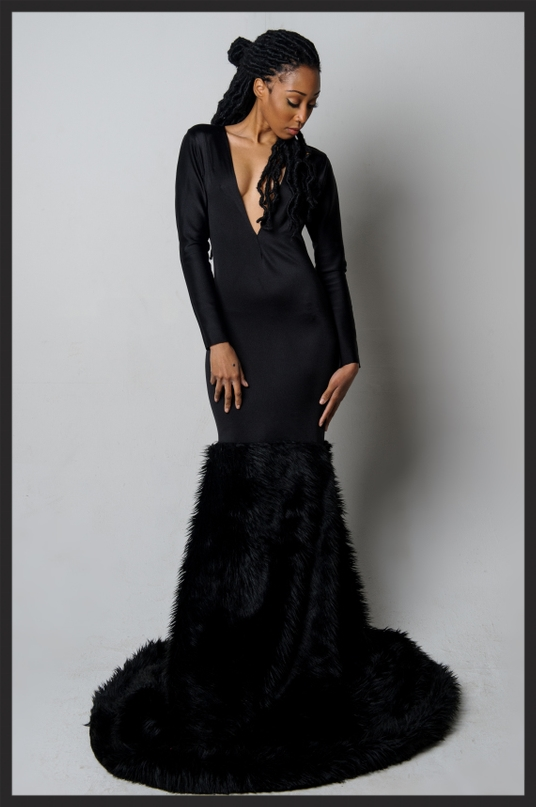 Black Widow Gown  by the Bonna Collection