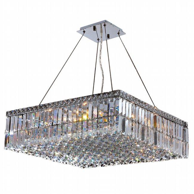 Modern chandelier square 24 crystals lighting modern chandelier square 24 aloadofball Images