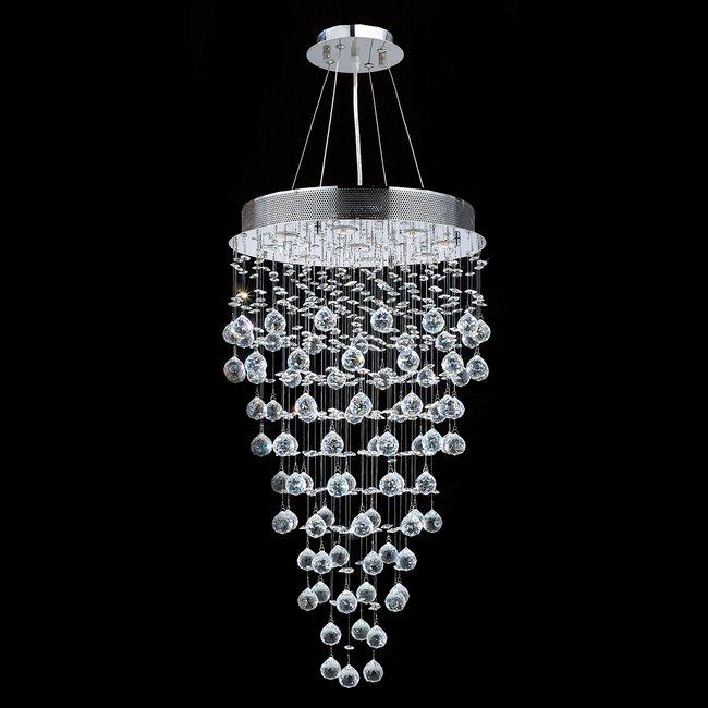 & Contemporary 9 Light Chandelier u2014 Crystals u0026 Lighting azcodes.com