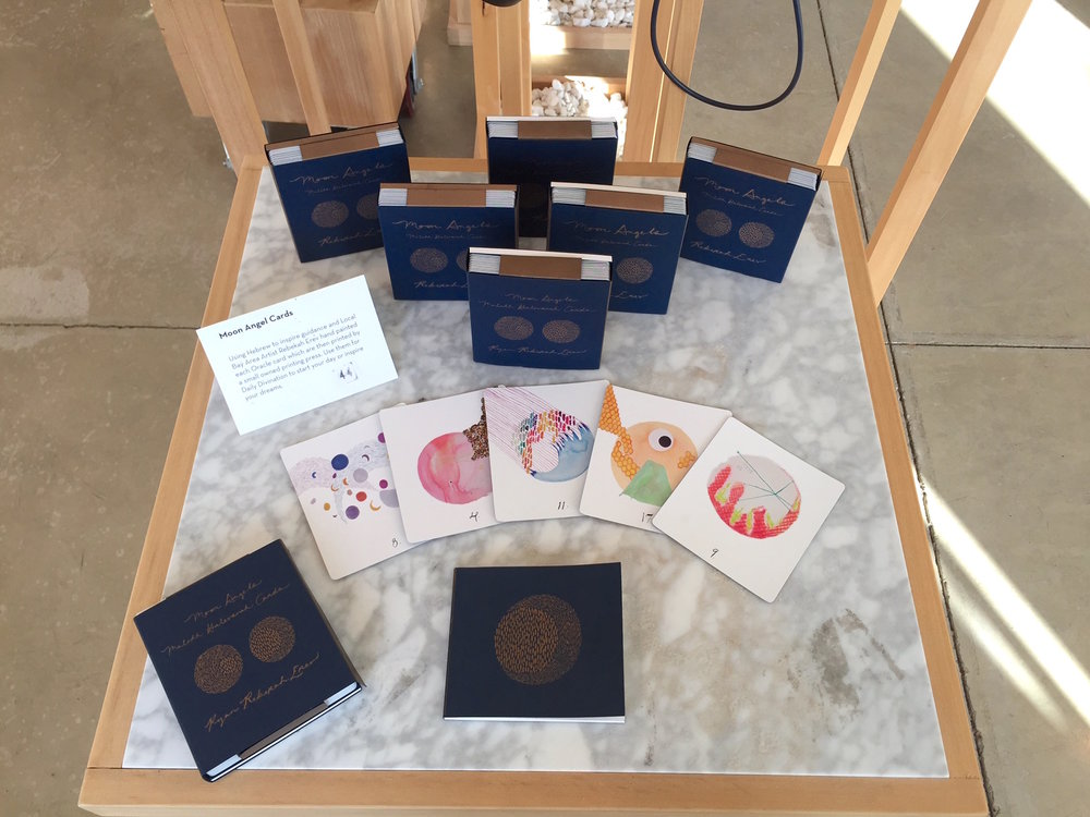 Moon Angel Oracle Deck Display. Photo by Sonya Rifkin