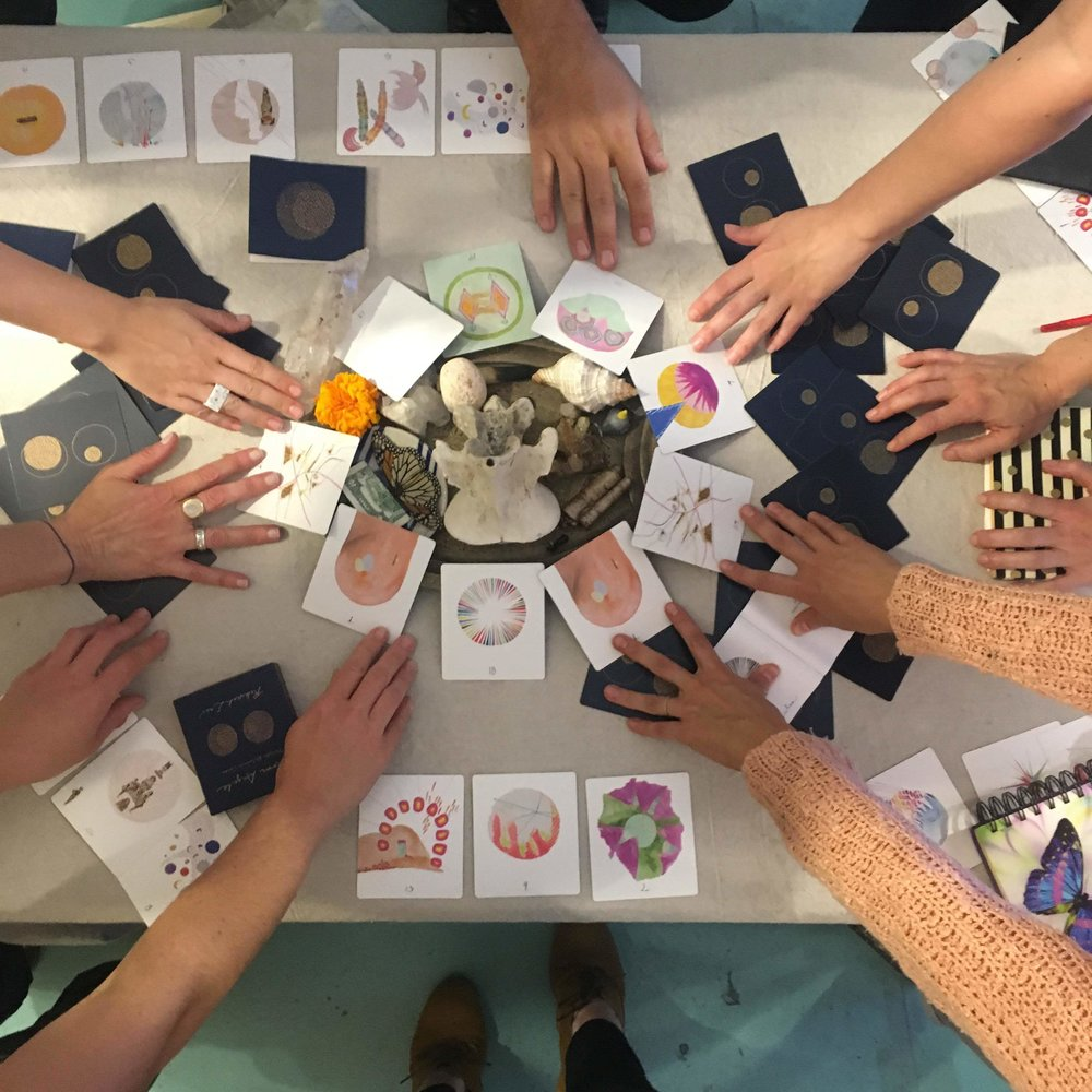 Moon Angel Card Ritual at Otherwild, LA. Photo by Rebekah Erev