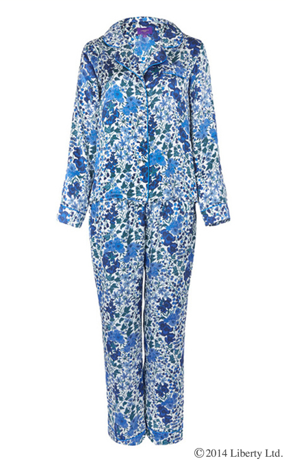 Liberty  Edna  Print Silk Pyjama Set