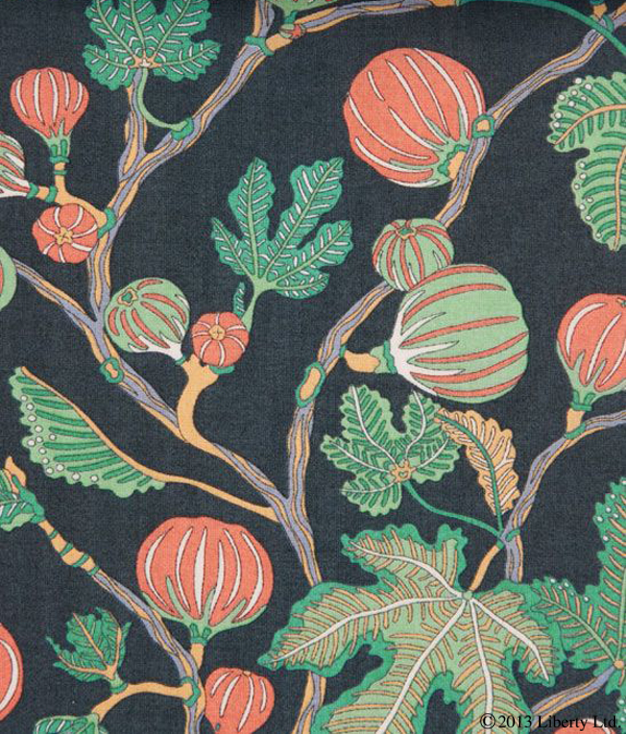 Liberty,  Alma  on Tana Lawn Cotton  Inspired by Diptyque's Philosykos perfume, commonly thought of as the first true fig fragrance