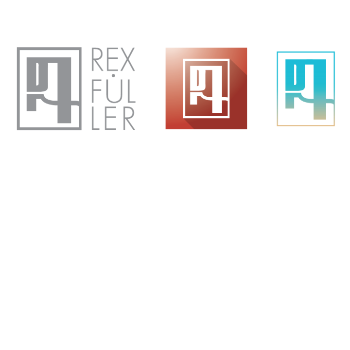 "My own logo has seen a few changes in the past year, but never has it lost or changed its basic structure. The logo itself is a combination of my initials, like most artist logos tend to be. My full name is Daniel Rex Fuller. The ""D"" combines with the lower portion of the ""R"" on the lower left portion of the logo to become a full ""R"". The ""F"" is resembles the cursive letter and is seen on the right portion of the logo."