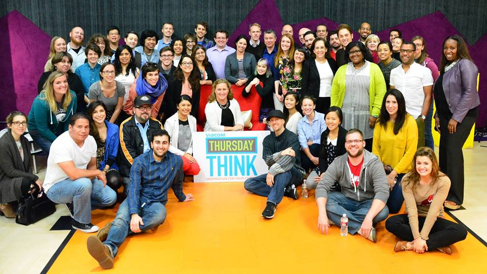 CJ at Nickelodeon's Thursday Think with guest speaker and head of Viacom Cyma Zargham
