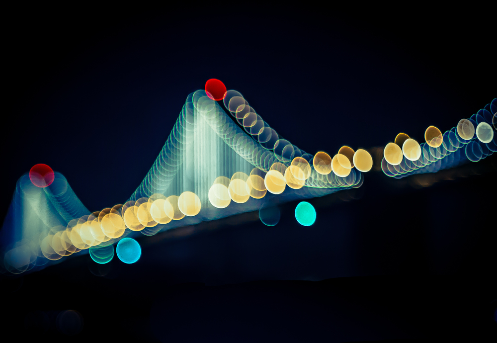 Bay Bridge Lights - Eric Bravo Photoraphy