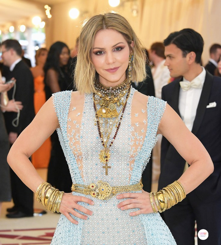 KATHERINE MCPHEE: The singer wore  VSA Designs  (Virgins, Saints and Angels) on the red carpet.