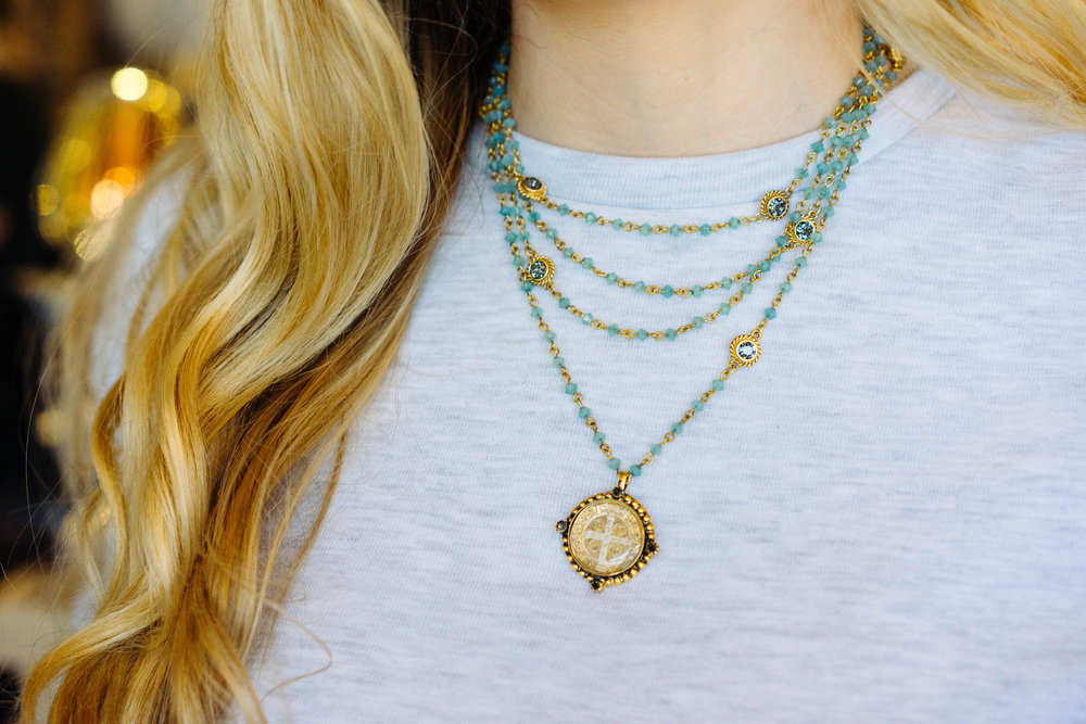 The  VSA  Gold San Benito Necklace, available  below .