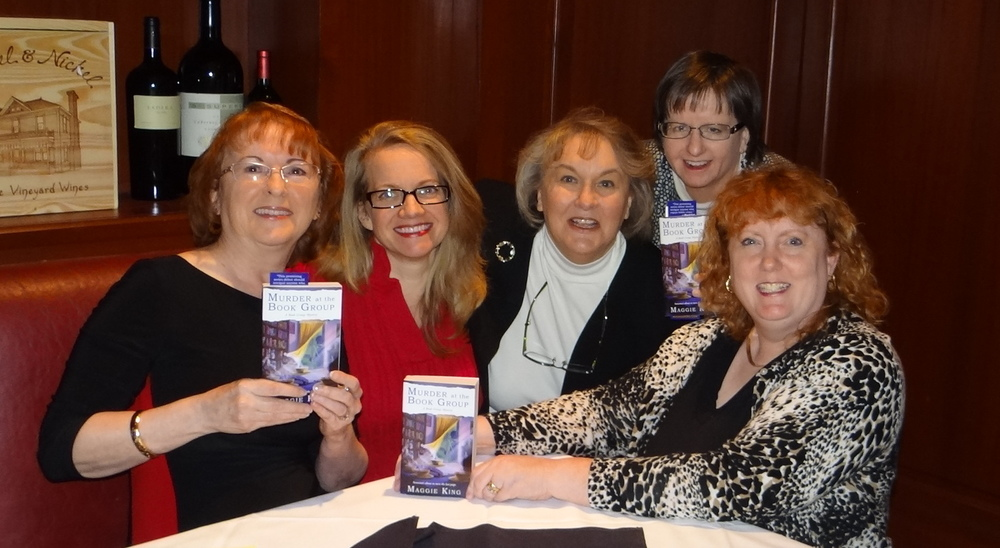 L to R: Maggie King, Fiona Quinn, Rosemary Shomaker, Jayne Ormerod, and Heather Weidner - VIRGINIA IS FOR MYSTERIES authors