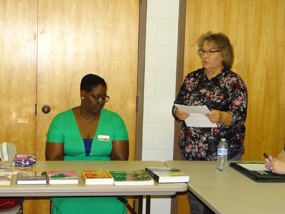 (l-r) Rhonda Pleasants and Rosemary Shomaker