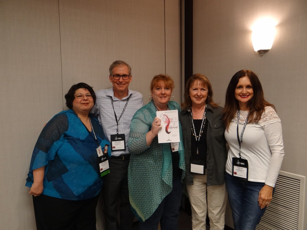 L-R: Barb Goffman, Alan Orloff, Me, Maggie King, and Teresa Inge
