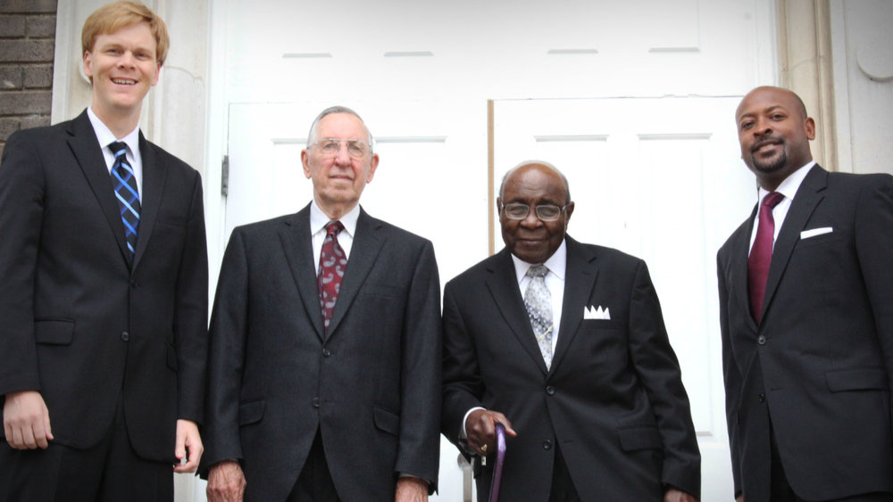 Dr. Noel Schoonmaker, Rev. Eugene Cotey, Rev. Richard Willis Gordon, and Rev. James McCarroll.