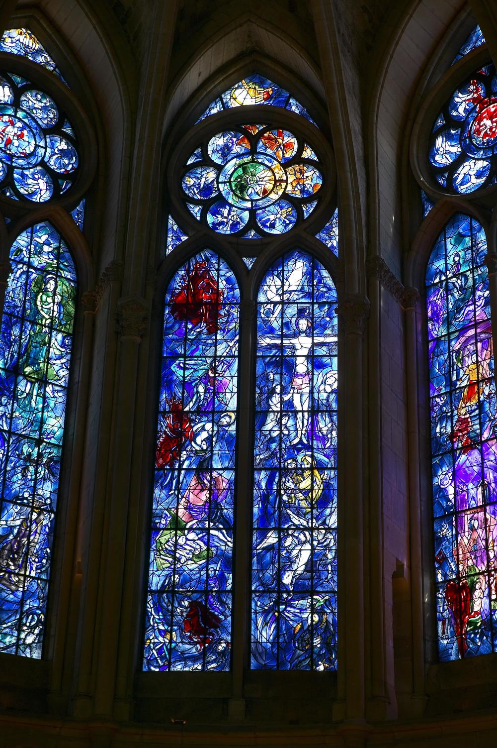 "Chagall Windows: ""Sacrifice of Isaac"" and ""The Crucifixion"""