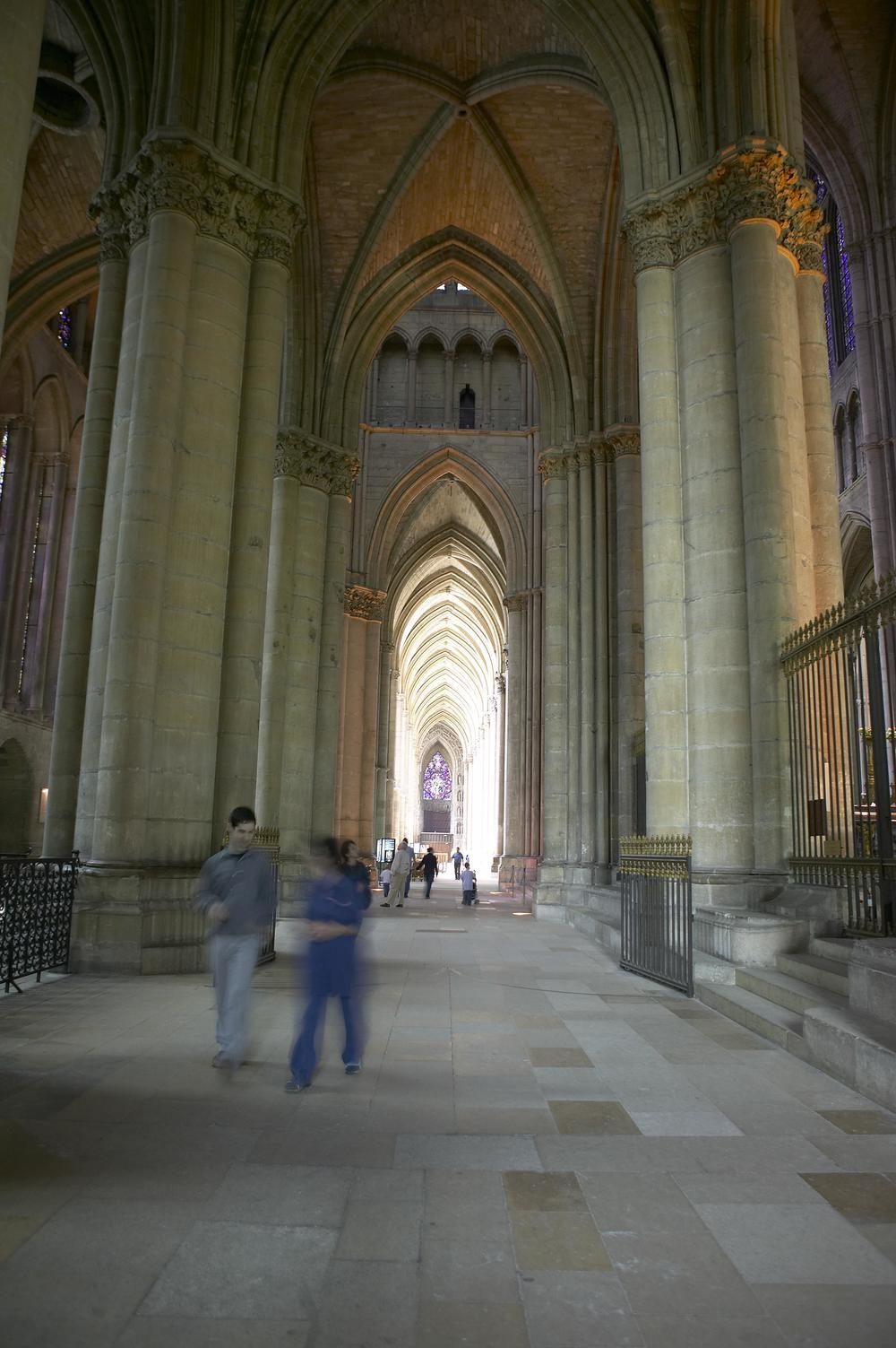 Interior of Reims Cathedral