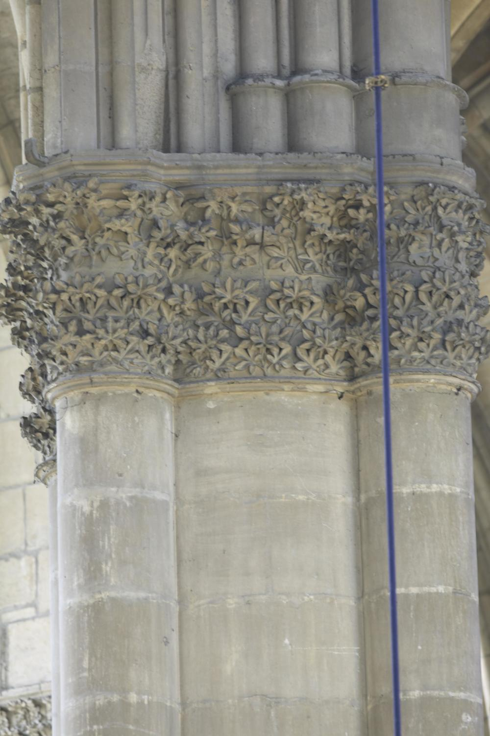 Detail, Column Capitals, Reims Cathedral