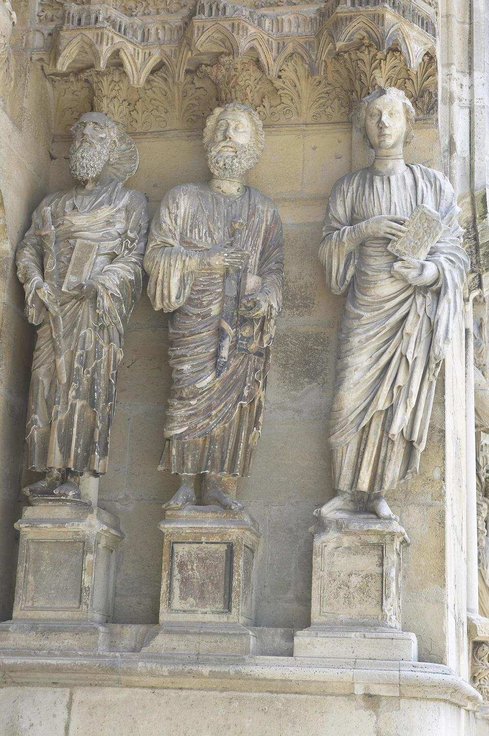 Jamb Figures: Saints Paul, James the Greater, and John the Evangelist