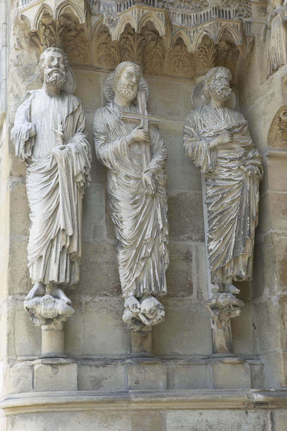 Jamb Figures: Saints Bartholomew, Andrew, and Peter