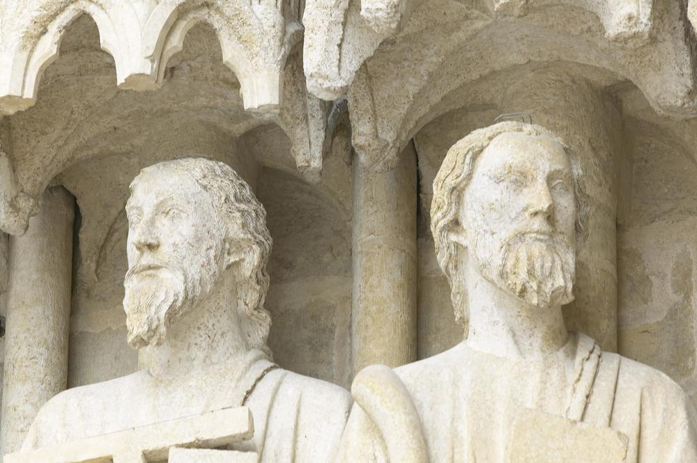 Jamb Figures: Simon (or Judas) and Ezekiel