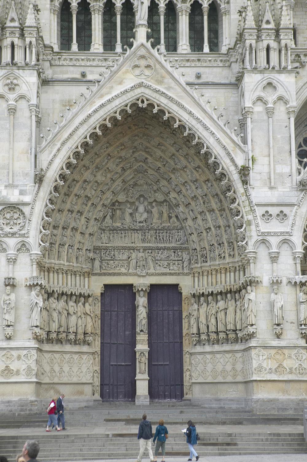 Central Portal, West Facade, Amiens Cathedral