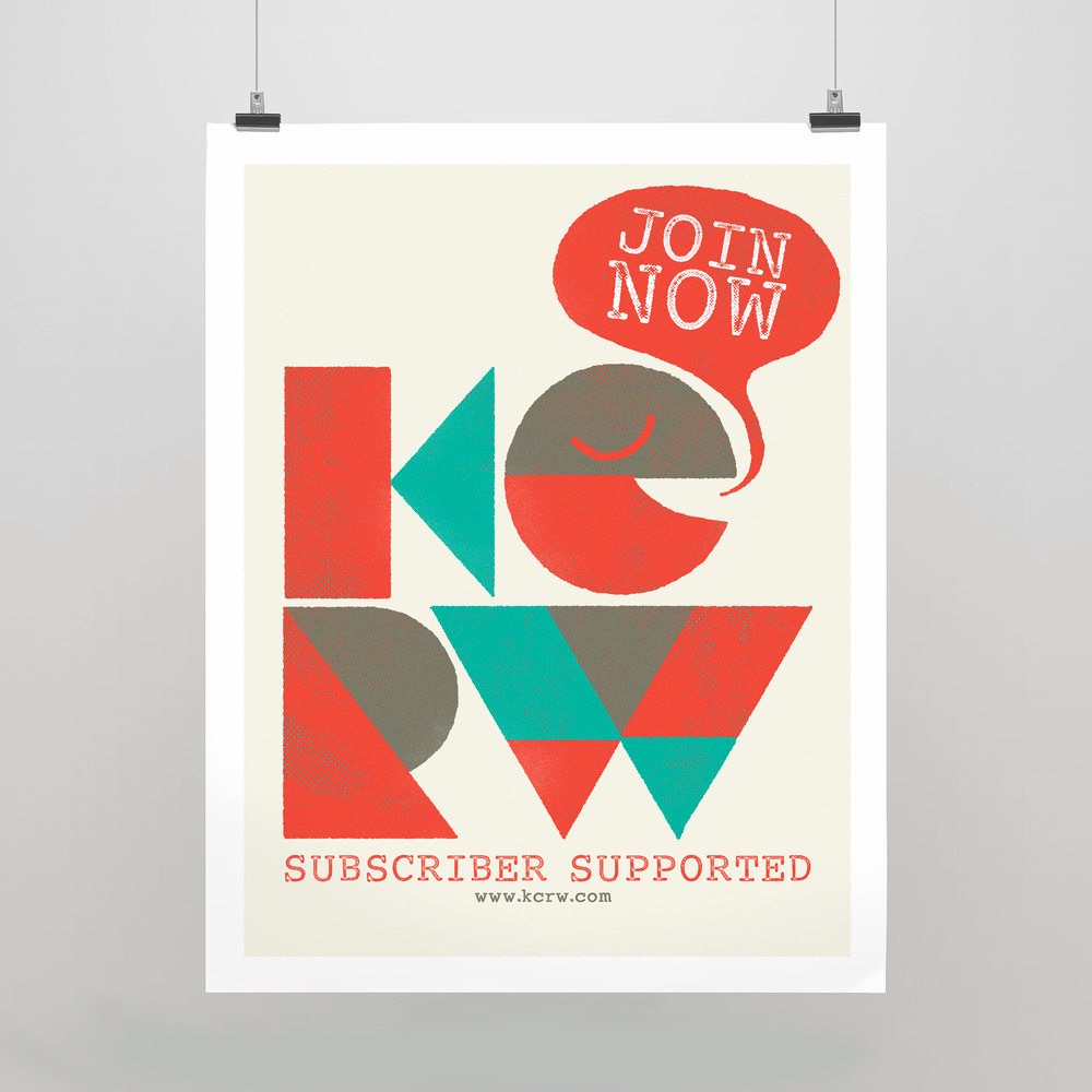 KCRW asked me to design them a simple poster to encourage people to subscribe and keep the lights on.