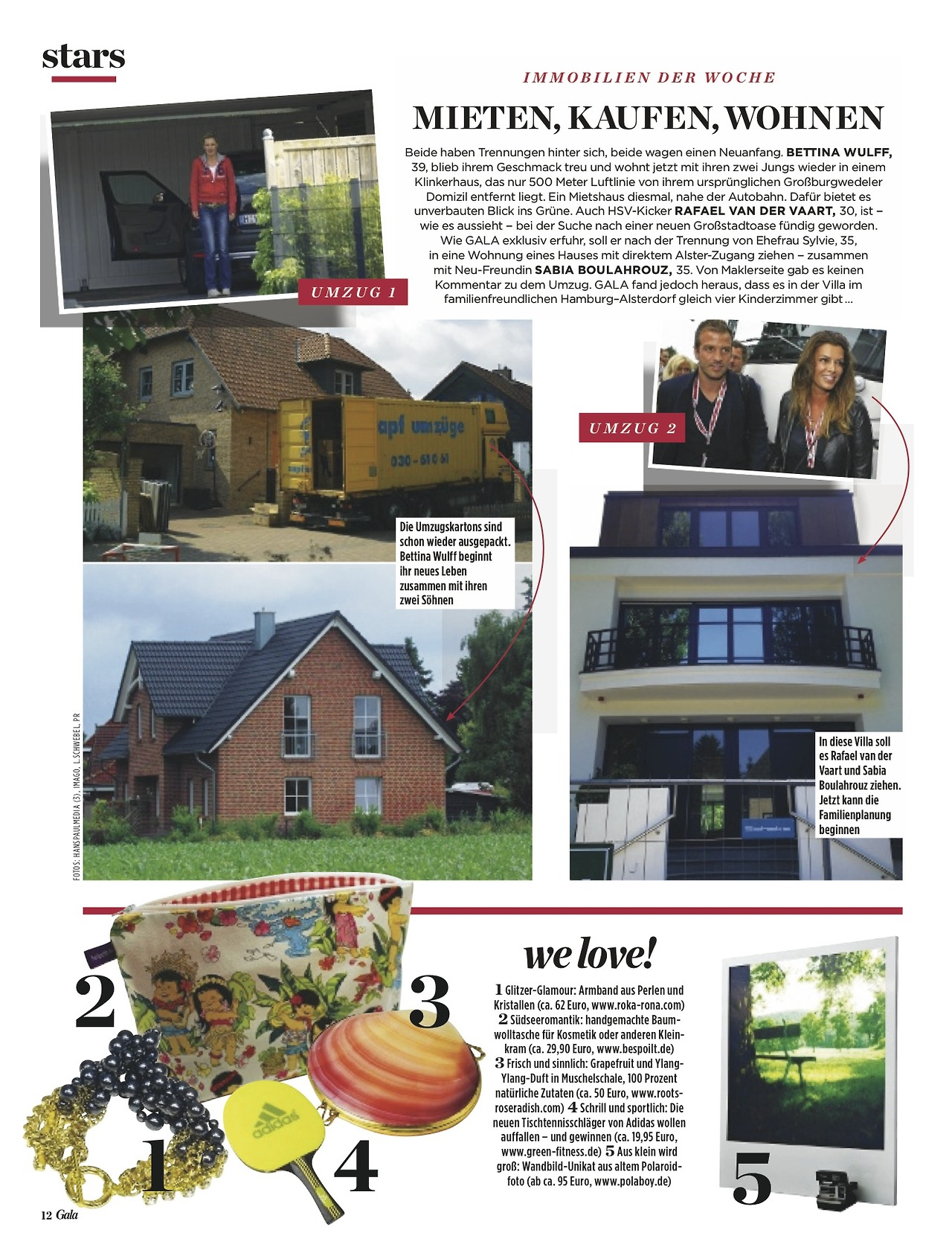 Gala Magazine (in Germany) LOVES us!
