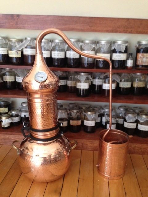 Our new 15 liter Alembic still has arrived! This is how we make our hydrosols and essential oils in our products.