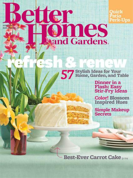 BETTER HOMES AND GARDENS THIS MONTH!!!