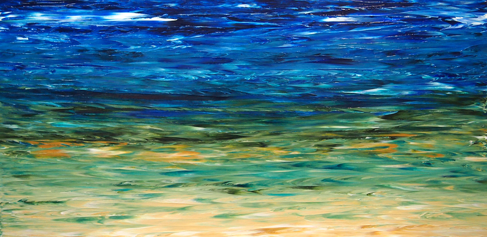 "Lake of many colours #32 36"" X 72"""