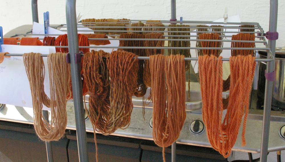 Yarns and samples.