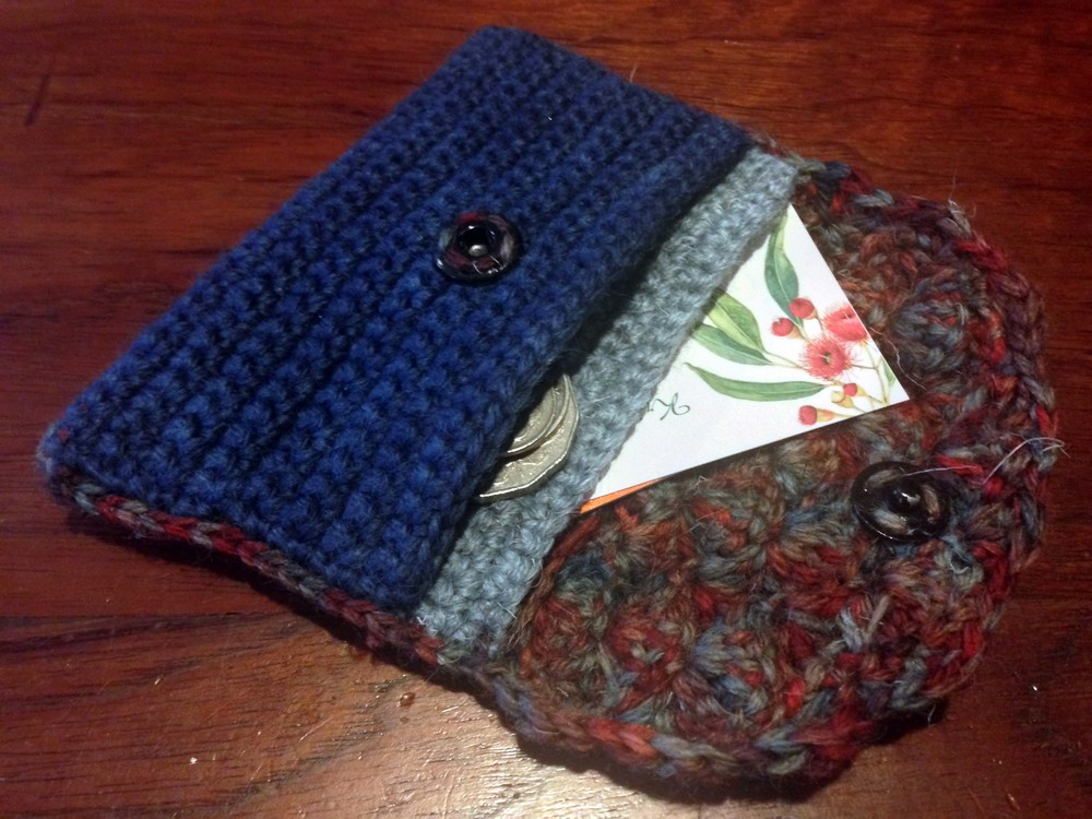 Two pocket coin purse.