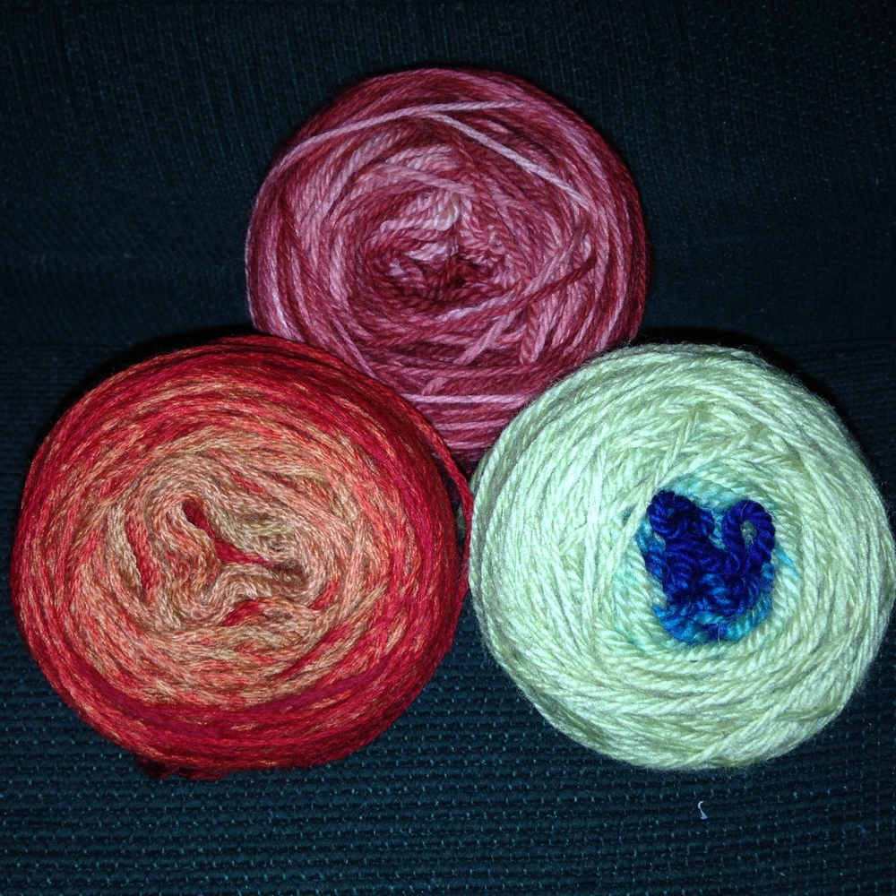 Cake dyeing, skein dipping and Ball dyed.