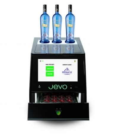 JEVO IS EASY TO USE ANDVIRTUALLY SELF CLEANING. - 1. ADD A JEVO FLAVOR POD2. POUR IN YOUR SPIRITS3. GET 20 SHOTS IN MINUTES