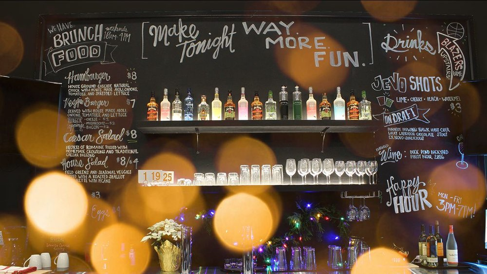 The Jevo bar, where we develop our recipes