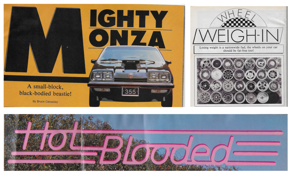 Figure 1  Advertisements from the June 1982 issue of  Hi-Performance Cars.