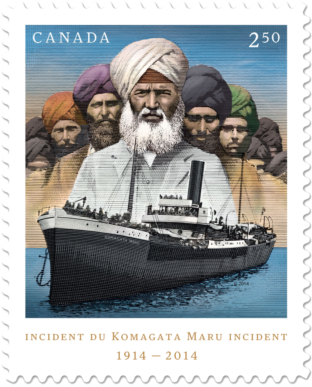 Figure 2  2014 Commemorative Stamp for the Komagata Maru Incident